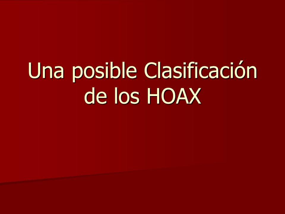 Una posible Clasificación de los HOAX