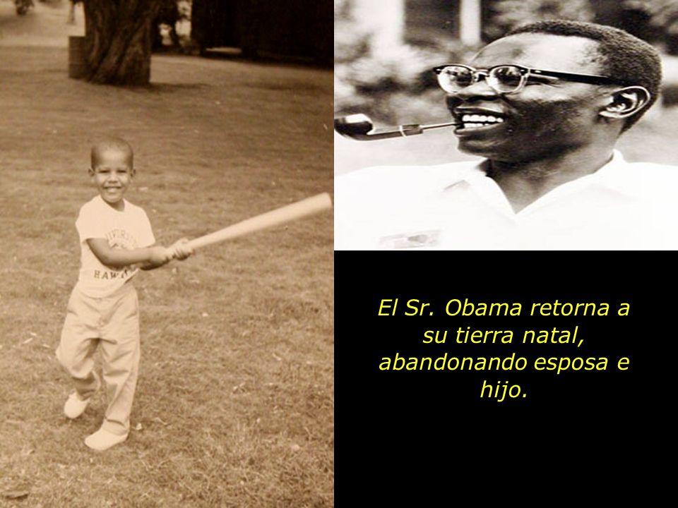 El pequeño Barack Obama aun sin cumplir dos años cuando su padre deja a la família y se va de Hawaii. Poco tiempo despues llega la notícia de que él,