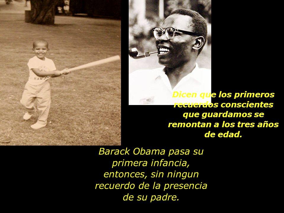 El Sr. Obama retorna a su tierra natal, abandonando esposa e hijo.