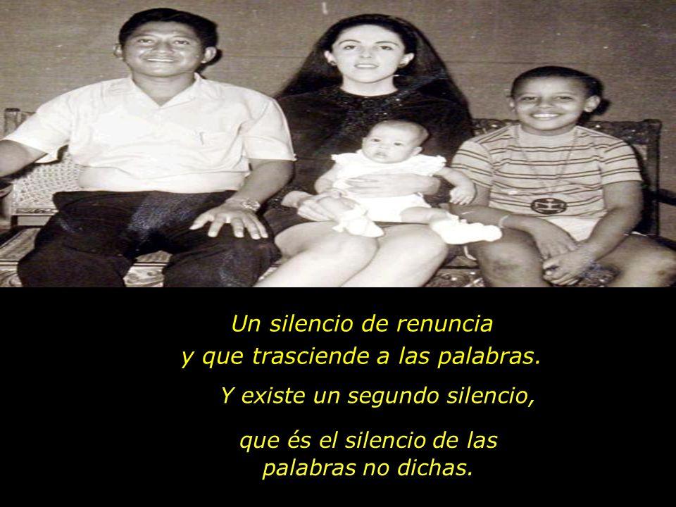 El silencio comienza a tomar fuerza. En una relación hay dos tipos de silencio: El primero es el silencio de la comunión que representa la esencia de