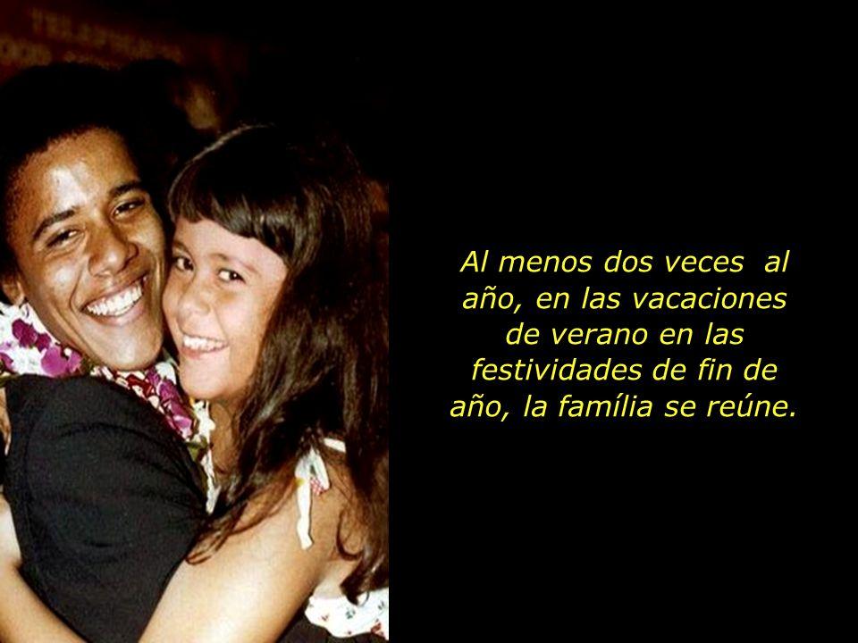 En cuanto a su madre, con Maya en brazos, continua empeñada en proyectos sociales por el mundo, el pequeño Obama pasa a vivir con los abuelos y estudi