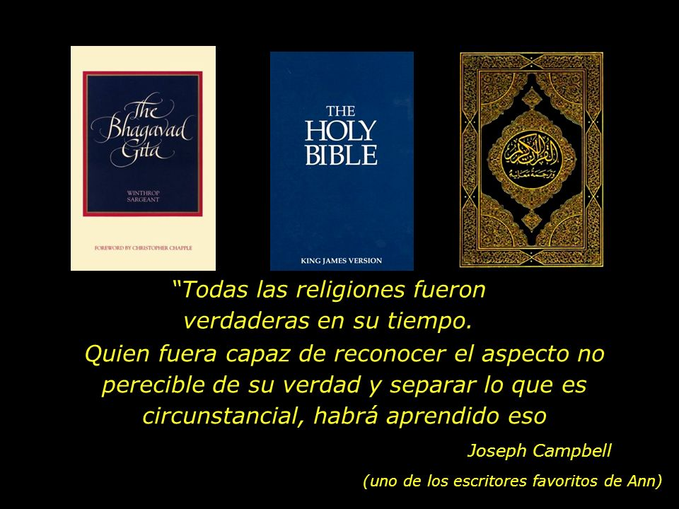 En nuestra casa, la Bíblia, el Coran y el Bhagavad Gita Estaban lado a lado en la repisa... Barack Obama