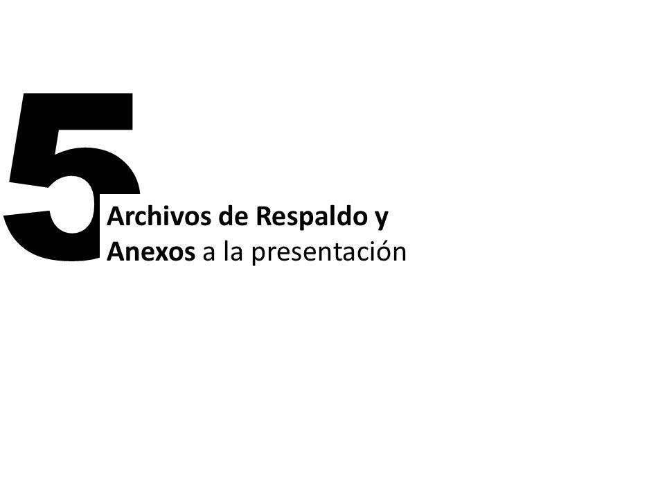 5 Archivos de Respaldo y Anexos a la presentación