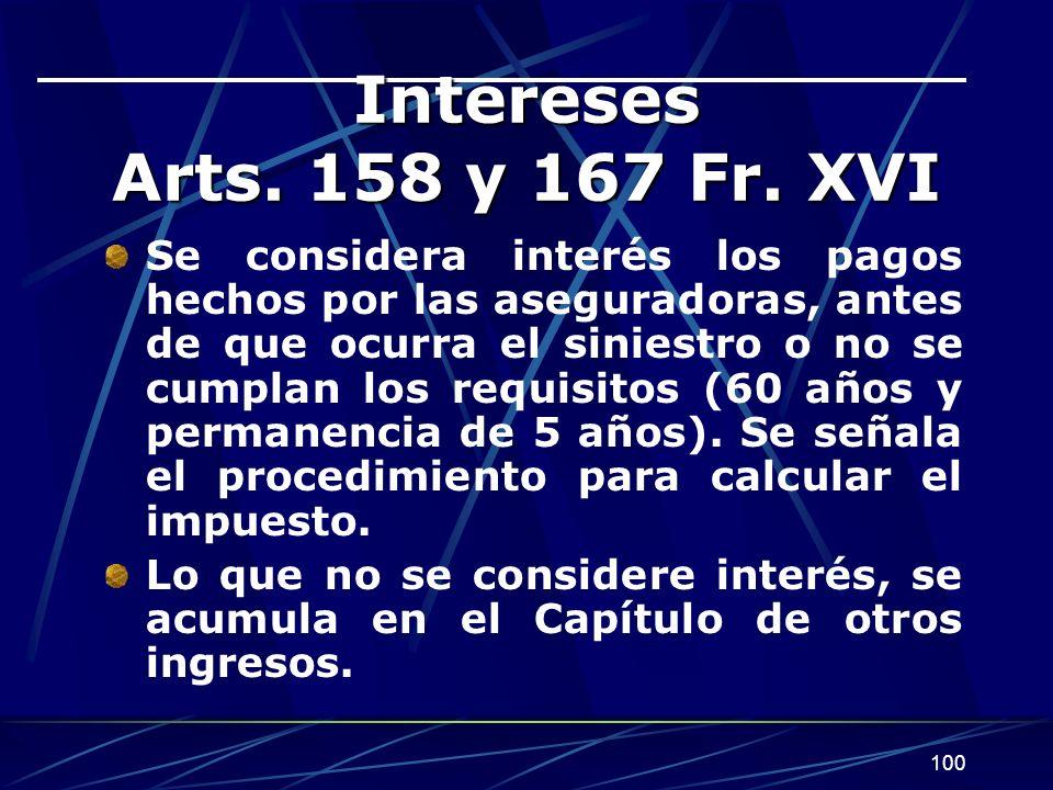 100 Intereses Arts.158 y 167 Fr.