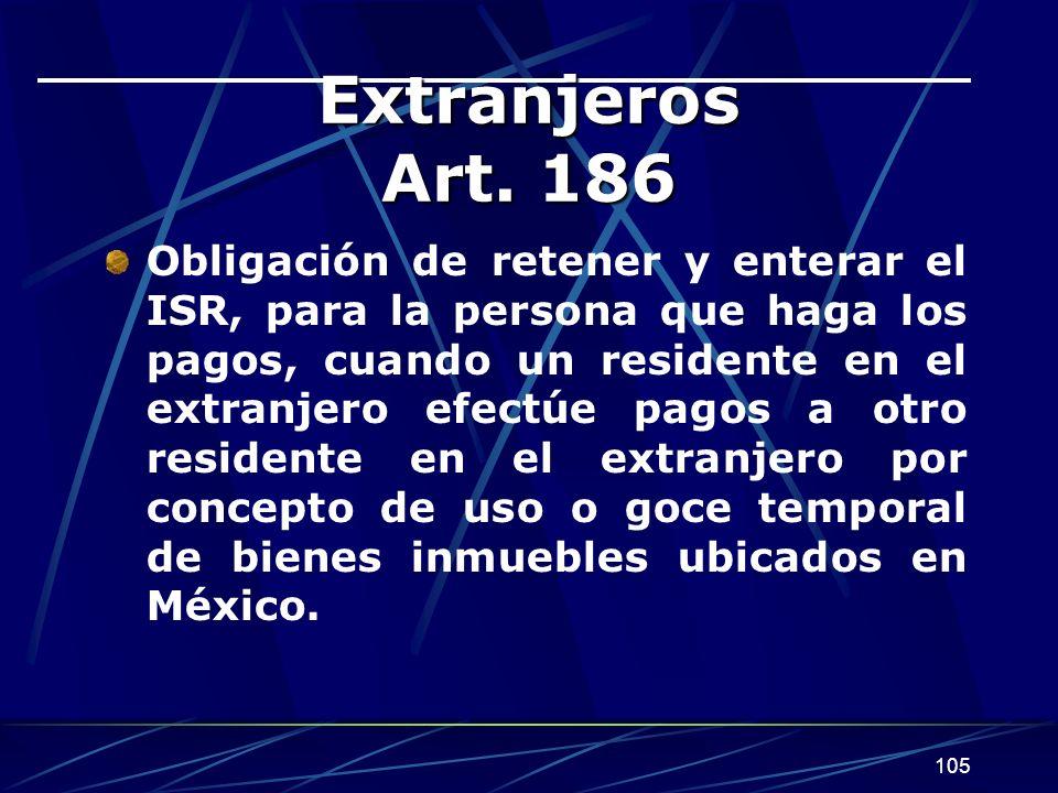 105 Extranjeros Art.