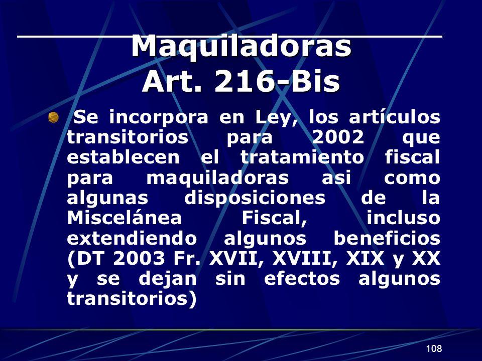 108 Maquiladoras Art.