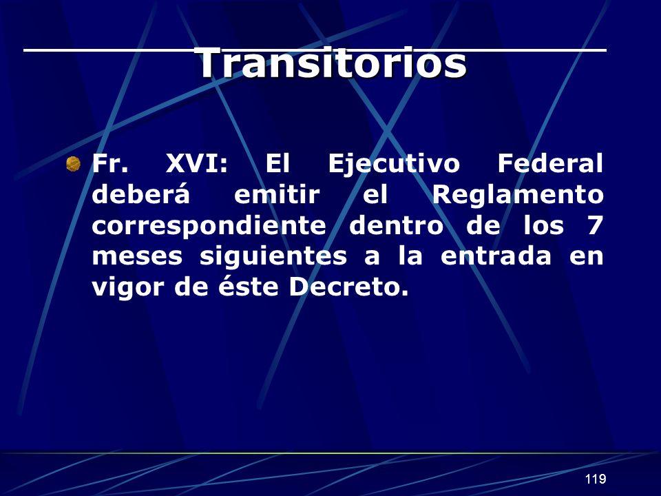 119 Transitorios Fr.