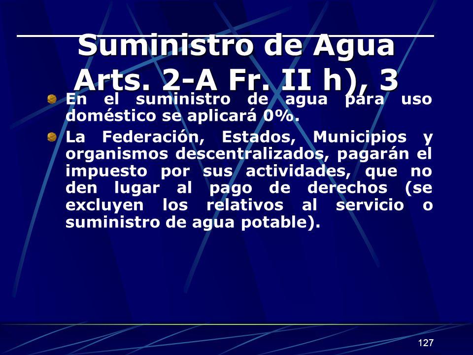 127 Suministro de Agua Arts.2-A Fr.