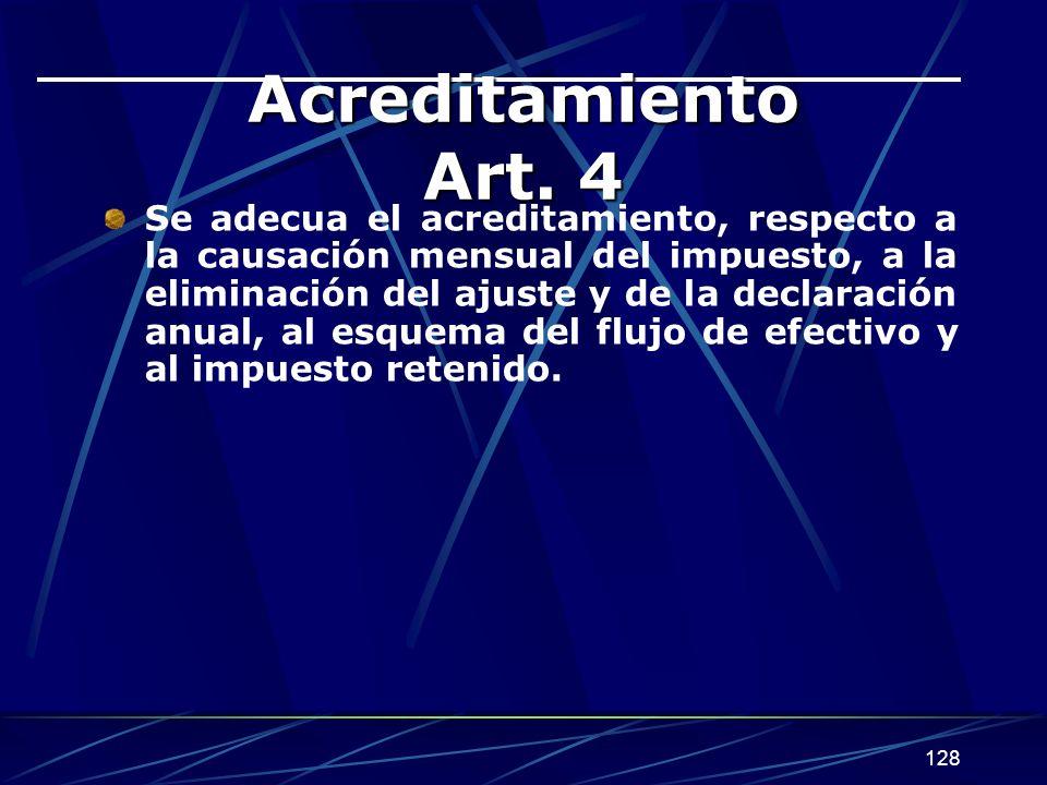 128 Acreditamiento Art.