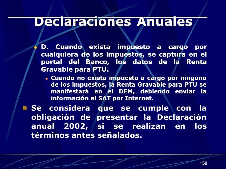 158 Declaraciones Anuales D.