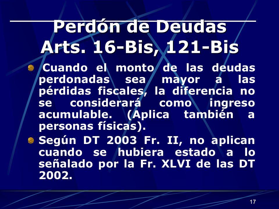 17 Perdón de Deudas Arts.
