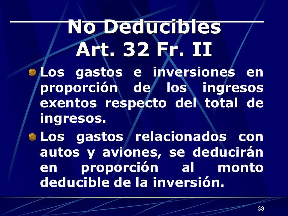 33 No Deducibles Art.32 Fr.