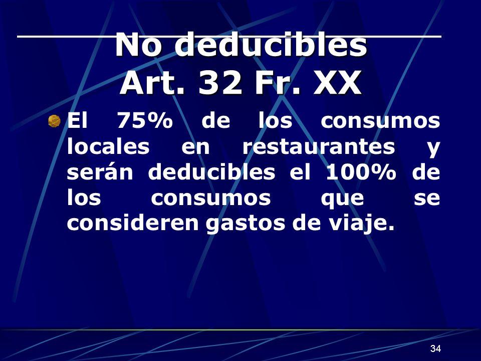 34 No deducibles Art.32 Fr.
