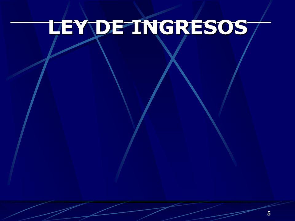 5 LEY DE INGRESOS