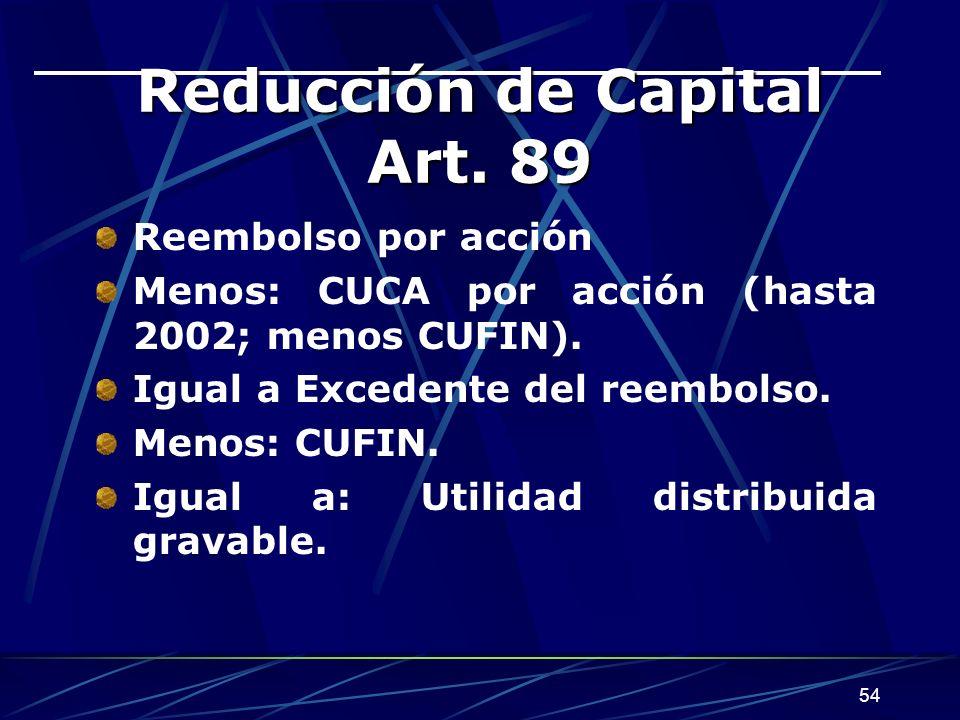 54 Reducción de Capital Art.