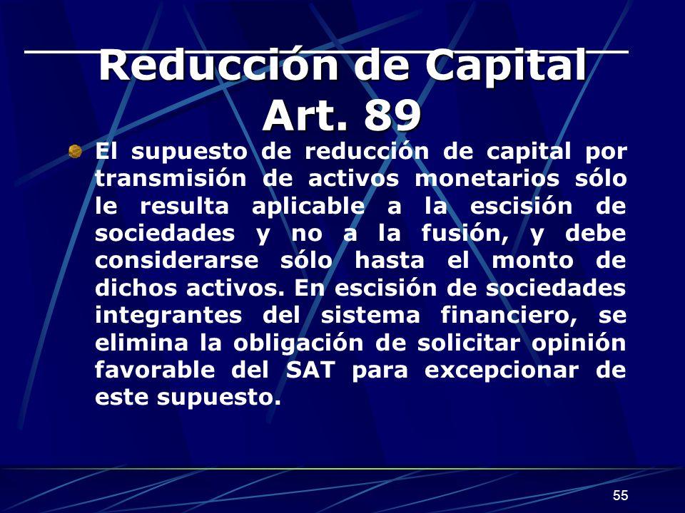 55 Reducción de Capital Art.
