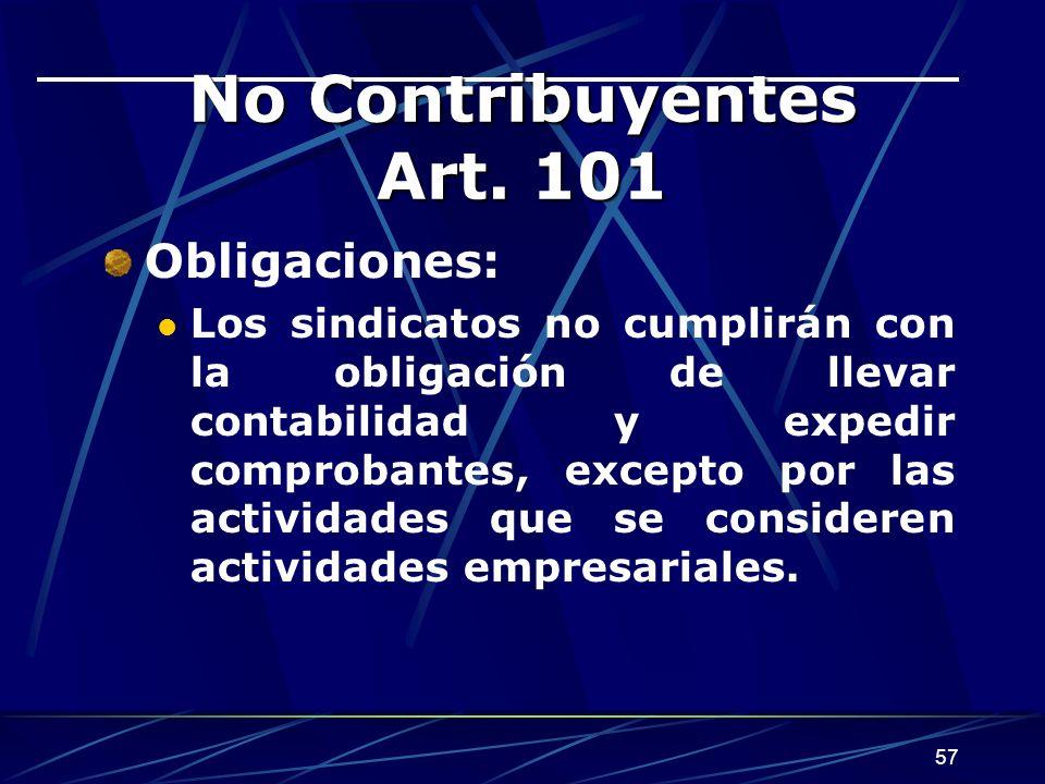 57 No Contribuyentes Art.