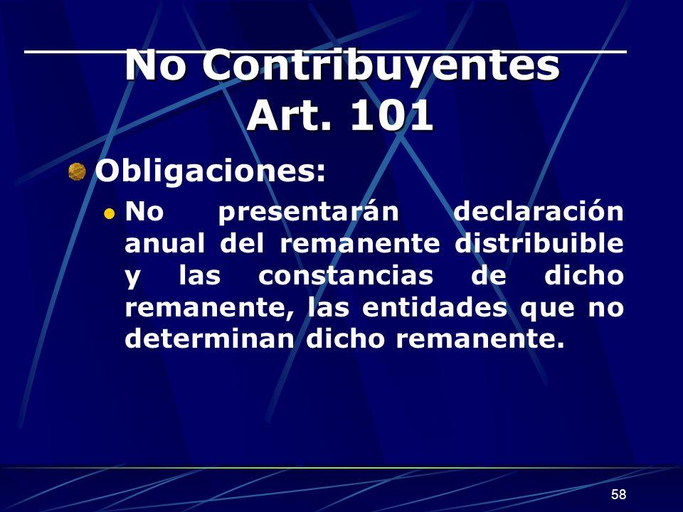 58 No Contribuyentes Art.