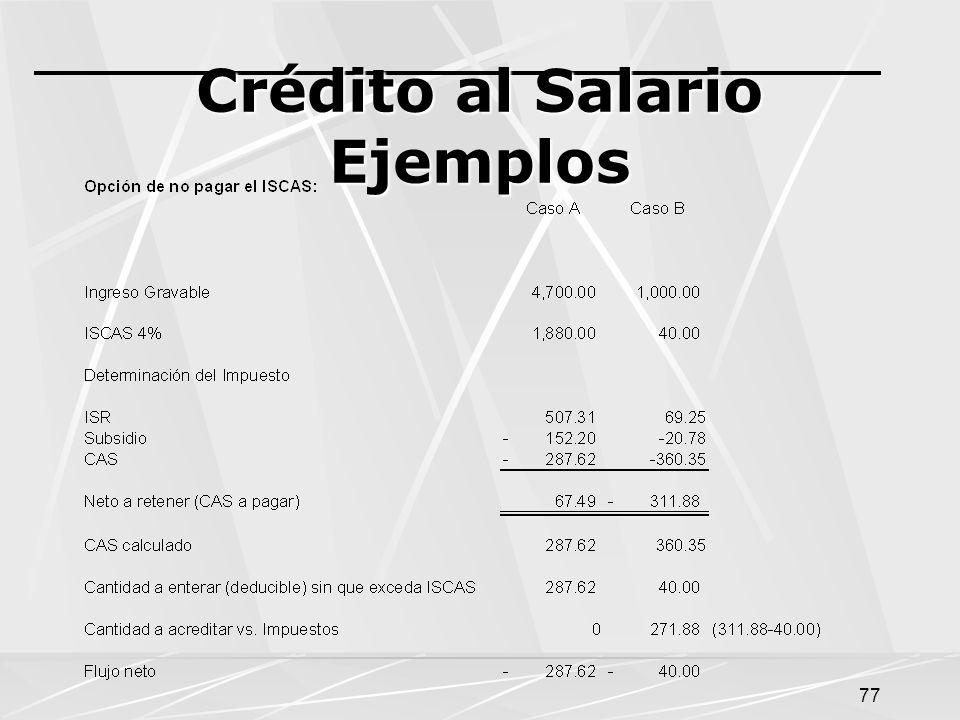 77 Crédito al Salario Ejemplos