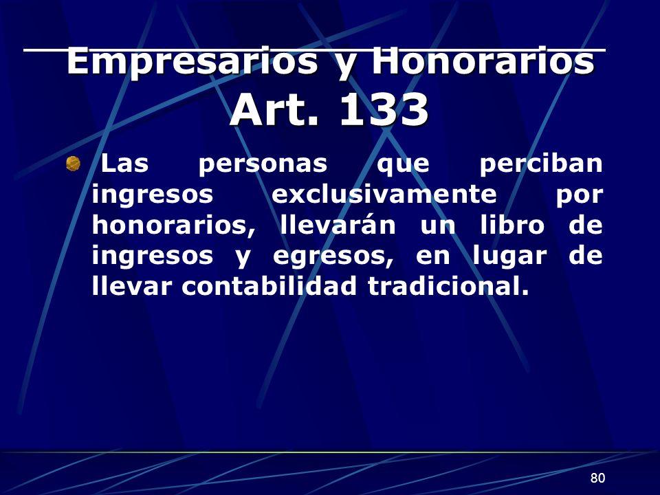 80 Empresarios y Honorarios Art.