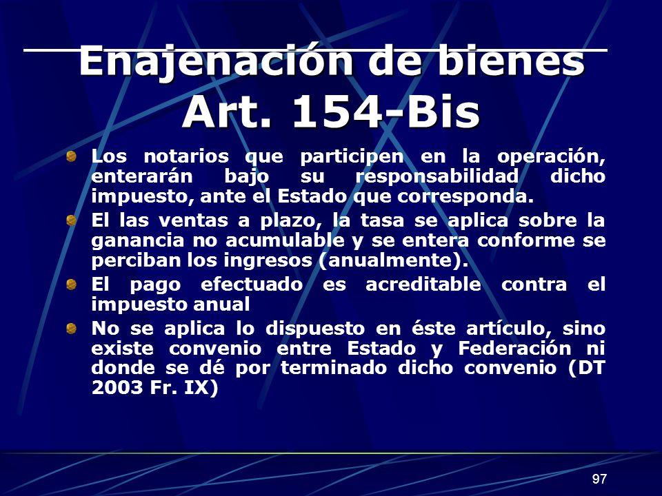 97 Enajenación de bienes Art.