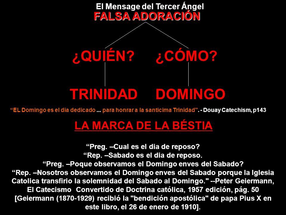 Domingo es una institución Catolica, y sólo pueden defenderse sus demandas a la observancia en principios católicos. Dede el comienzo hasta el final e