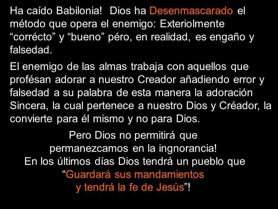 El Mensaje Del Segundo Angel Otro ángel le siguió diciendo, Ha caído, ha caído Babilonia, la gran ciudad, porque ha hecho beber a todas las naciones d