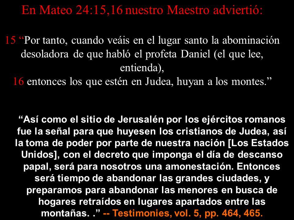 Salid de ella, pueblo mío, para que no participéis de sus pecados, y no recibáis de sus plagas... (Apo 18:4) 2 Corintios 6:14-18 14 No os unáis en yugo desigual con los incrédulos: Porque, ¿qué tiene en común la justicia con la injusticia.
