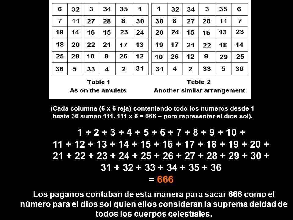 Notemos el Sol y las tress figuras debajo, encima de 6x6, una reja, Y el número 666 debajo de la reja