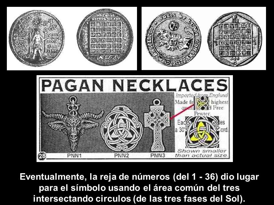 (Cada columna (6 x 6 reja) conteniendo todo los numeros desde 1 hasta 36 suman 111. 111 x 6 = 666 – para representar el dios sol). Los paganos contaba