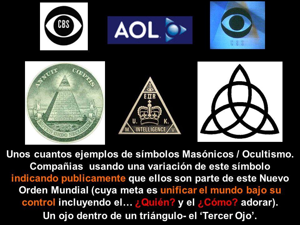 Fíjate que estos símbolos aparecen en materiales Masónicos y Ocultistas.