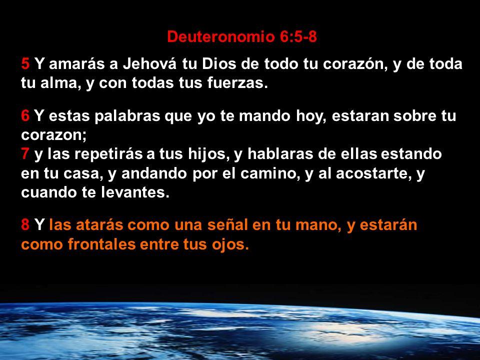 Los israelitas fueron a poseer la tierra prometida… Deuteronomio 6:1-8 1 Estos, pues, son los mandamientos, estatutos y decretos que Jehová vuestro Di