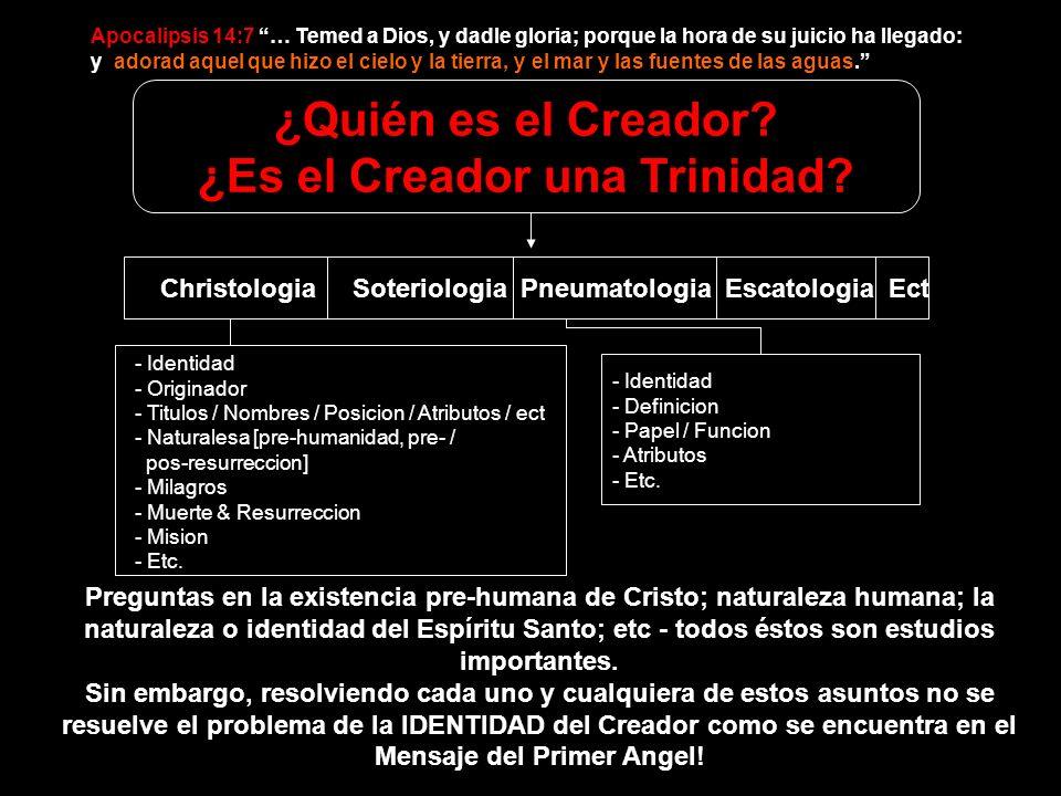- Identidad - Originador - Titulos / Nombres / Posicion / Atributos / ect - Naturalesa [pre-humanidad, pre- / pos-resurreccion] - Milagros - Muerte &
