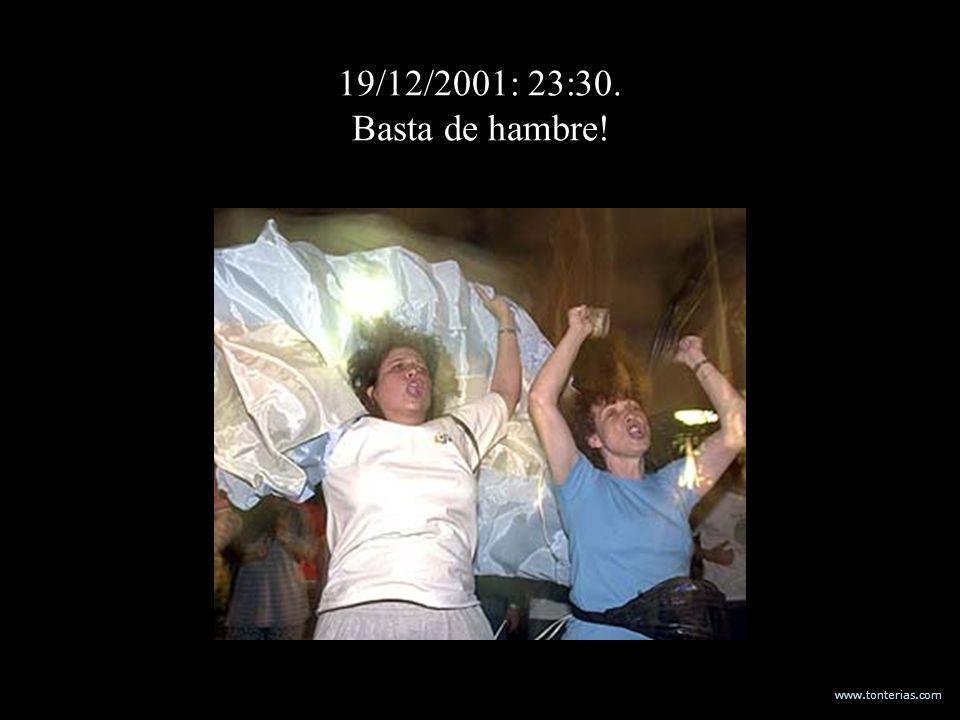 www.tonterias.com 19/12/2001: 23:30. Basta de hambre!