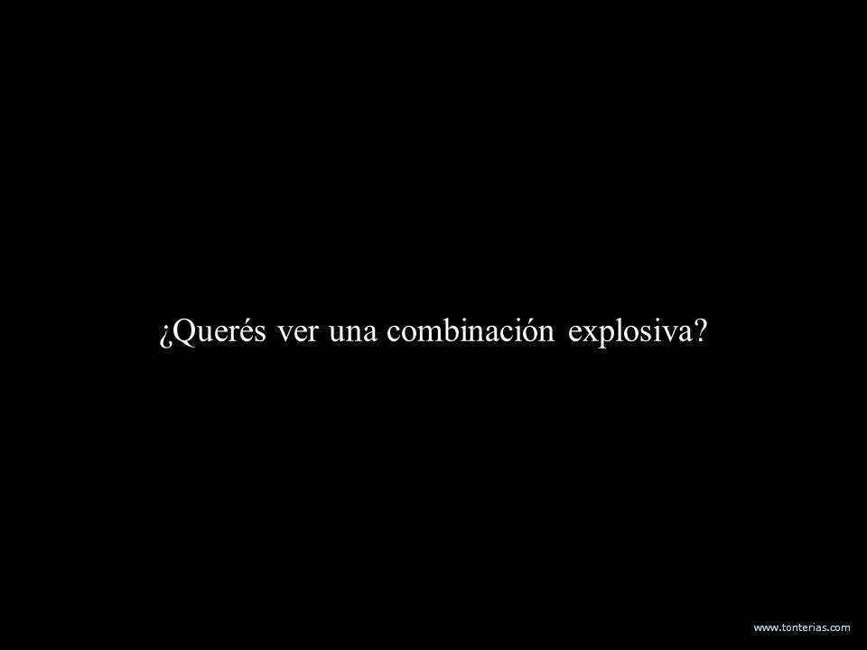 www.tonterias.com ¿Querés ver una combinación explosiva?