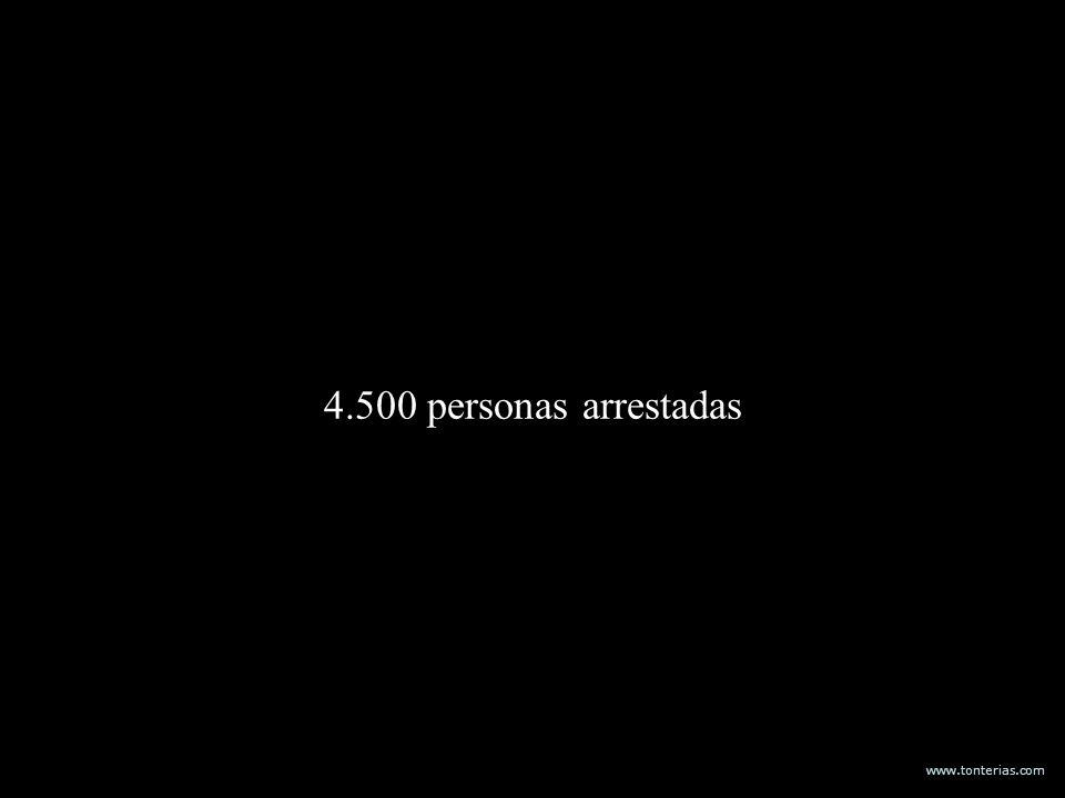www.tonterias.com 4.500 personas arrestadas