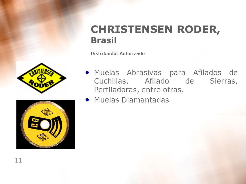 11 CHRISTENSEN RODER, Brasil Distribuidor Autorizado Muelas Abrasivas para Afilados de Cuchillas, Afilado de Sierras, Perfiladoras, entre otras. Muela