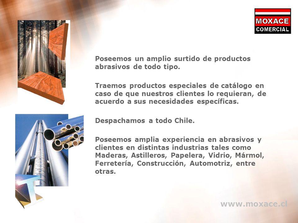 14 Contáctenos > Oficinas Centrales Rapel 402, Ñuñoa, Santiago Rut 78.258.340-9 Fono 56-2- 227 2593 - 56-2-227 2632 Fax 56-2- 227 2593 Email moxace@moxace.cl >Sucursal Concepción Bulnes 749 Local B Fono 56-41-2 252256 Fax 56-41-2 216536 Despachamos a todo Chile.