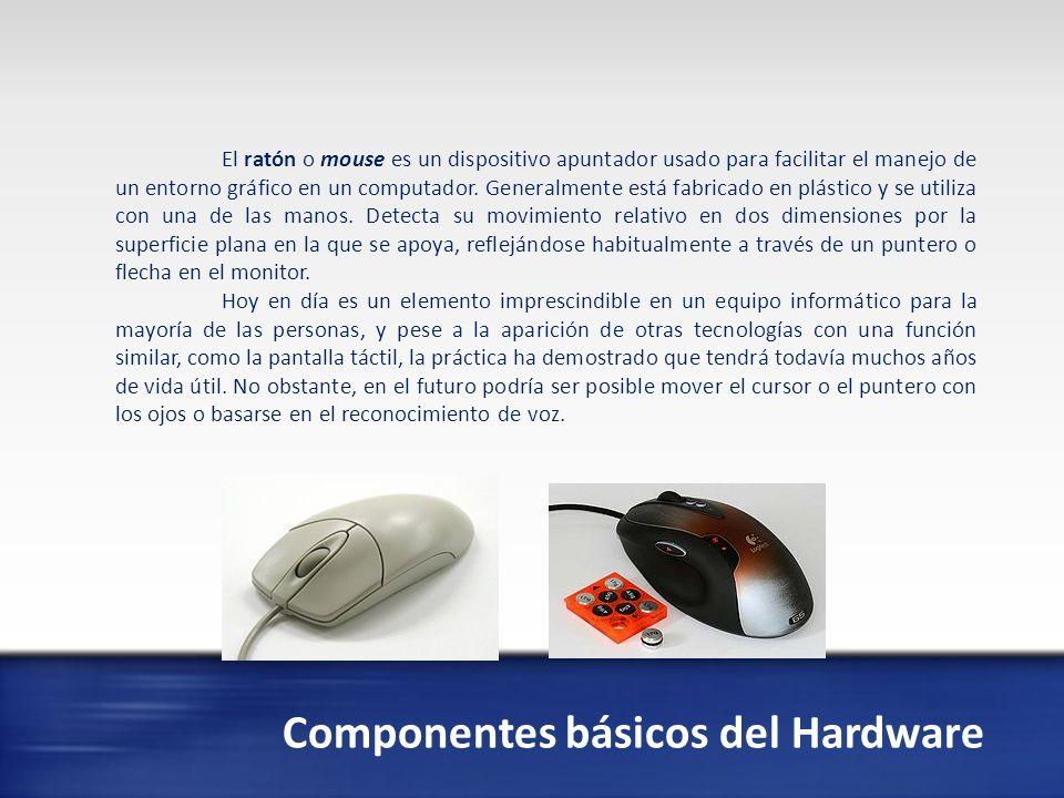 Existe la siguiente denominación que se les da a los componentes del Hardware Son los Dispositivos de Entrada, salida, almacenamiento.