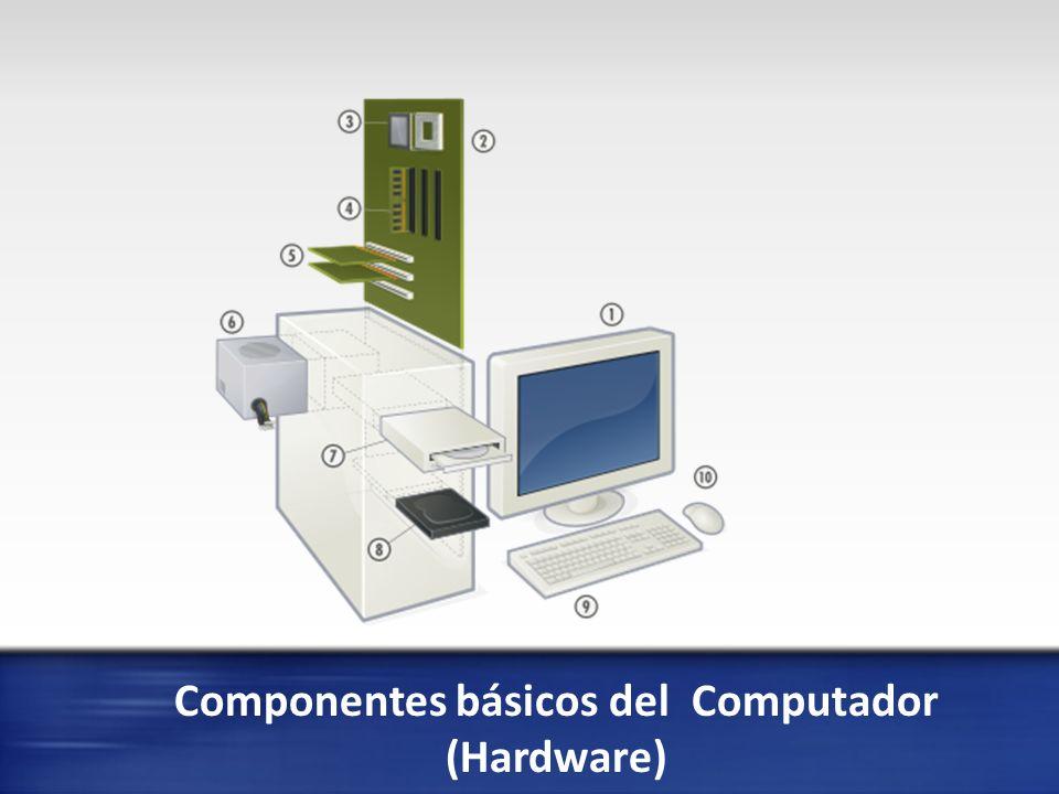 Componentes básicos del Hardware Monitor de computadora o pantalla de ordenador, aunque también es común llamarlo «pantalla», muestra mediante una interfaz, los resultados del procesamiento de una computadora.