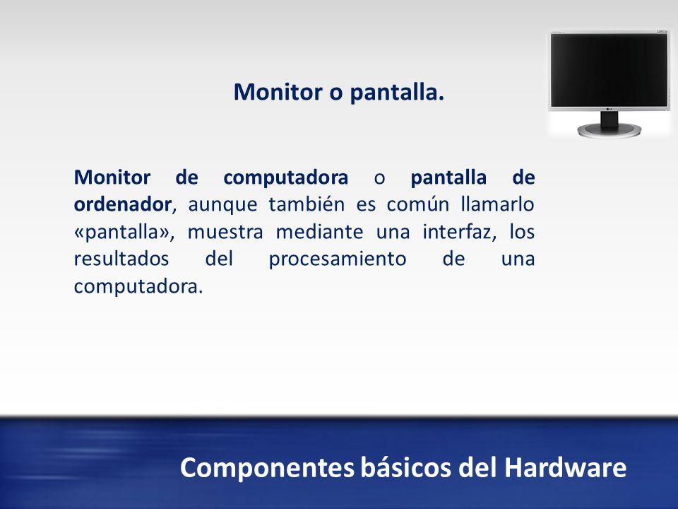 Componentes básicos del Hardware Placa madre o tarjeta madre La placa base, también conocida como placa madre o tarjeta madre (del inglés motherboard o mainboard) es una placa de circuito impreso a la que se conectan los componentes que constituyen la computadora u ordenador.