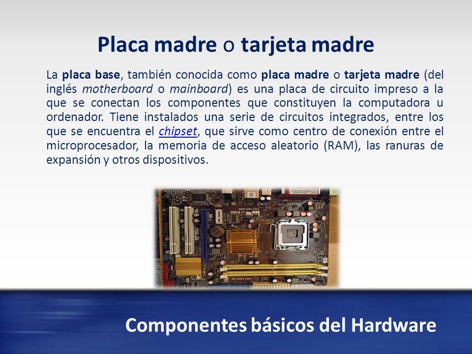 Componentes básicos del Hardware La unidad central de procesamiento o CPU (por el acrónimo en inglés de central processing unit), o simplemente el procesador o microprocesador, es el componente del computador y otros dispositivos programables, que interpreta las instrucciones contenidas en los programas y procesa los datos.