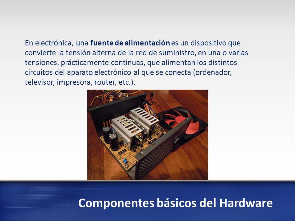 Componentes básicos del Hardware En informática, una unidad de disco óptico es una unidad de disco que usa una luz láser u ondas electromagnéticas cercanas al espectro de la luz como parte del proceso de lectura o escritura de datos desde o a discos ópticos.
