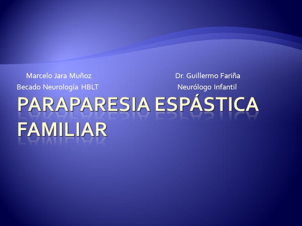 Marcelo Jara Muñoz Dr. Guillermo Fariña Becado Neurología HBLT Neurólogo Infantil