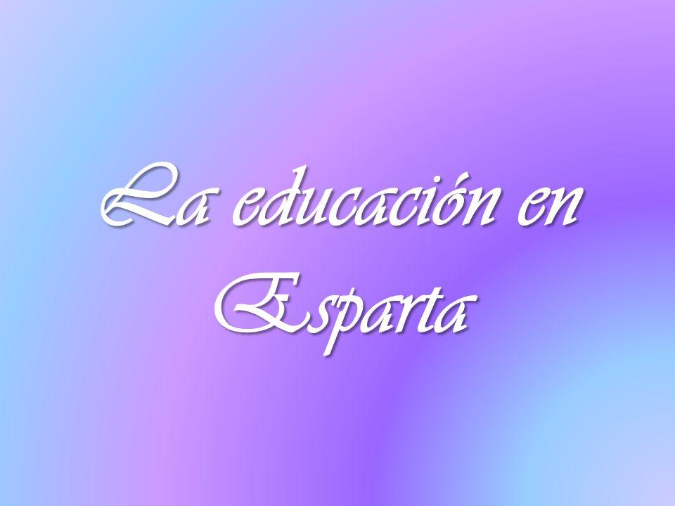 La educación en Esparta