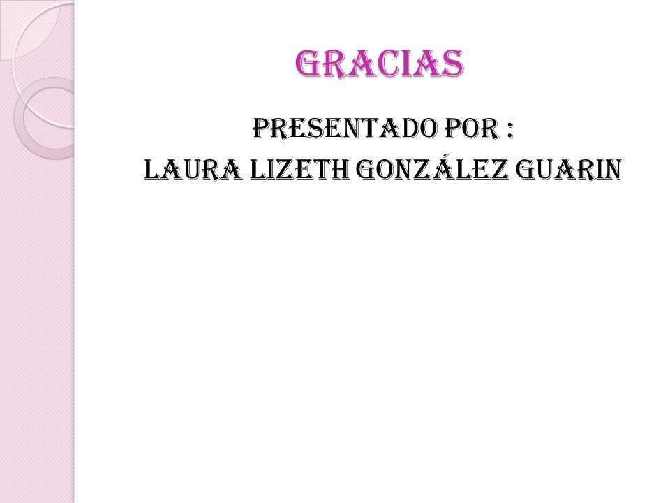 gracias Presentado por : Laura lizeth González Guarin
