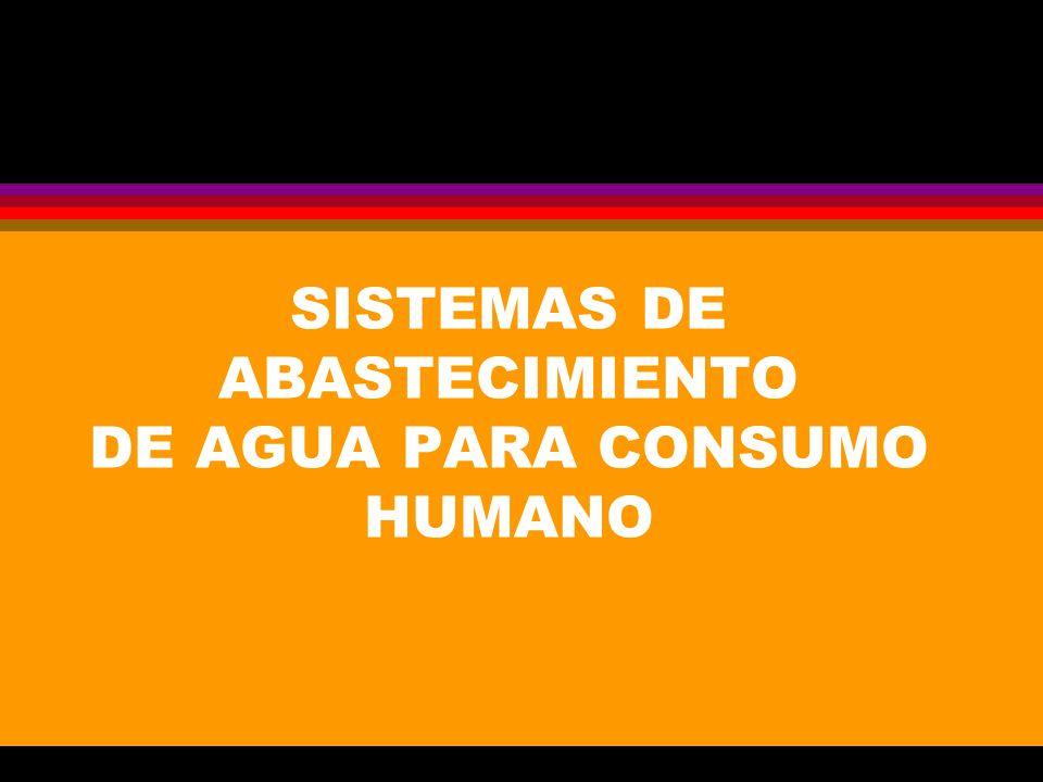 SISTEMAS DE ABASTECIMIENTO DE AGUA PARA CONSUMO HUMANO