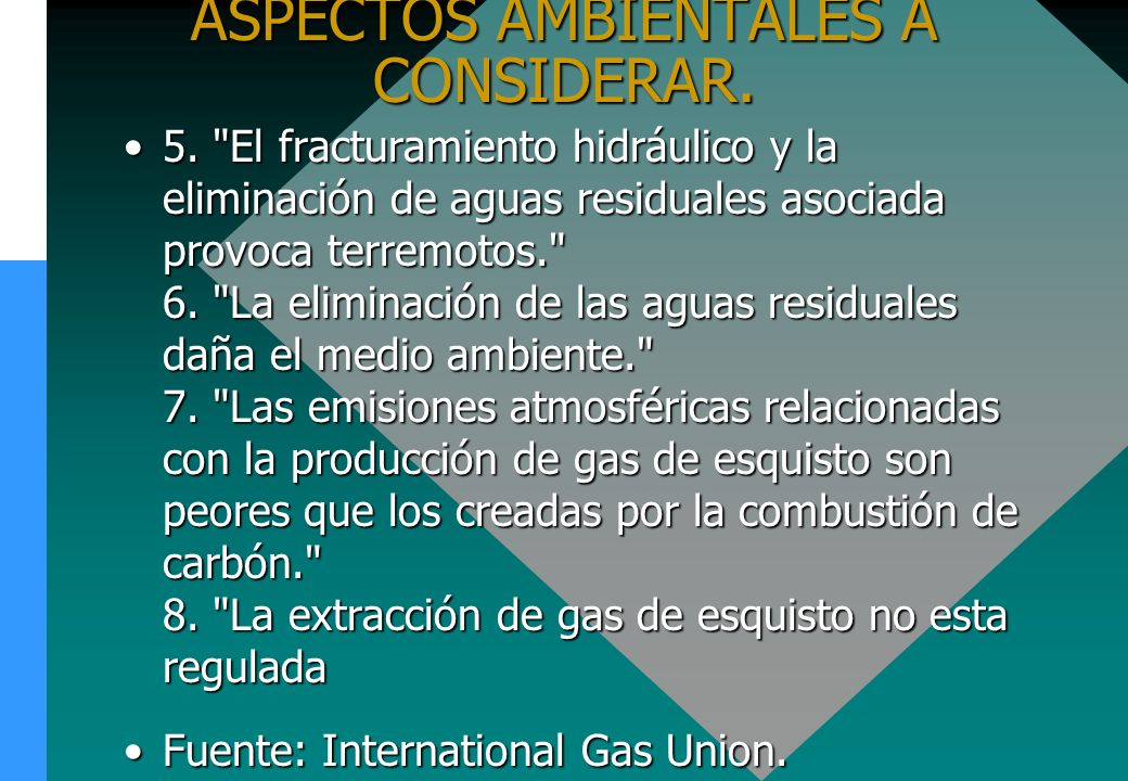 ASPECTOS AMBIENTALES A CONSIDERAR. 5.