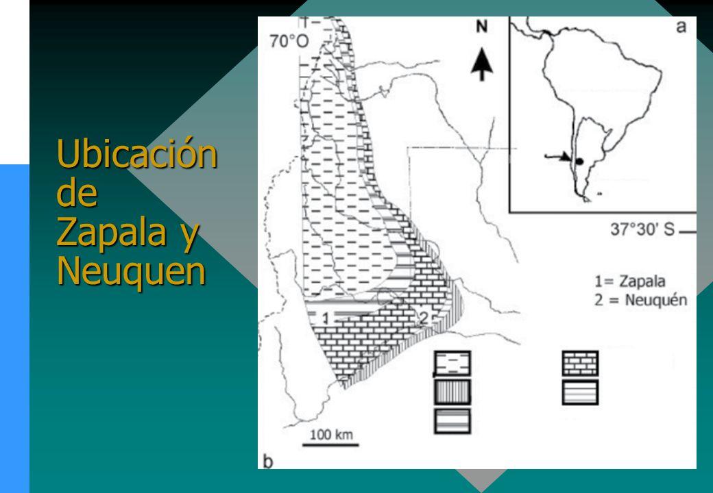 Ubicación de Zapala y Neuquen