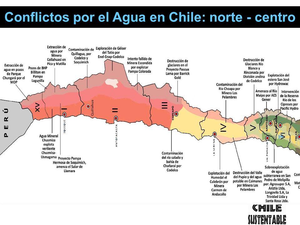 Conflictos por el Agua en Chile: norte - centro